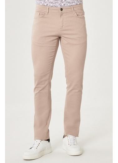 AC&Co / Altınyıldız Classics Kanvas Slim Fit Dar Kesim 5 Cep Pantolon 4A0121100091 Bej